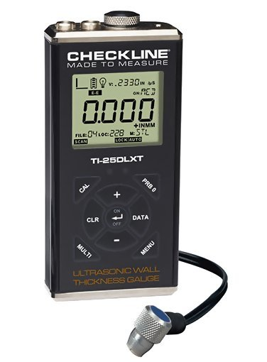 Checkline TI-25DLXT Thru-Paint Ultrasonic Wall Thickness Gauge with Datalogging and USB Output