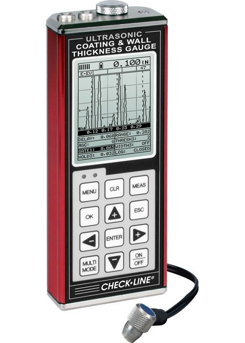 Checkline TI-CMXDLP Data-Logging Ultrasonic Coating and Wall Thickness Gauge