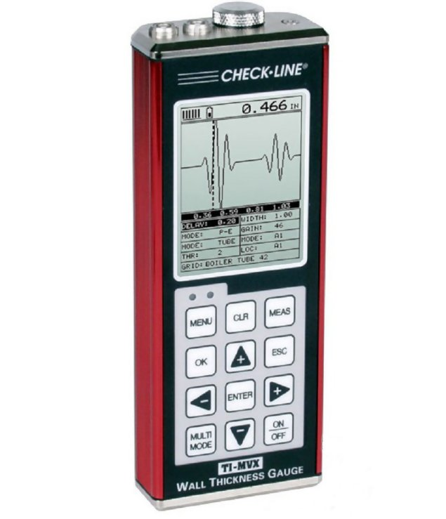Checkline TI-MVX Ultrasonic Thickness Gauge with Enhanced Display