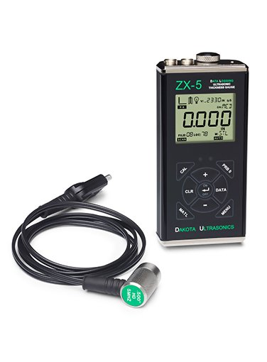 Dakota Ultrasonic ZX-5DL Data Logging Wall Thickness Gauge with USB Output