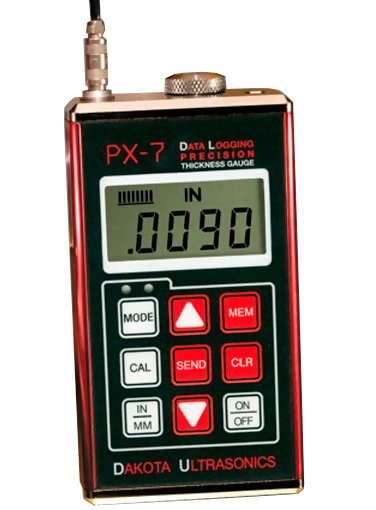 Dakota Ultrasonics PX-7DL Data Logging Precision Ultrasonic Wall Thickness Gauge
