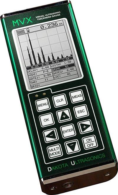 MVX Ultrasonic Thickness Gauge with Enhanced Display