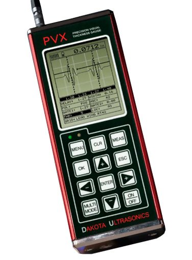 PVX Precision Ultrasonic A-scan Thickness Gauge