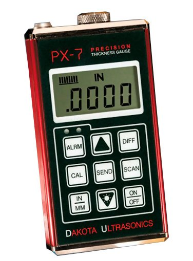 PX-7 Precision Ultrasonic Wall Thickness Gauge