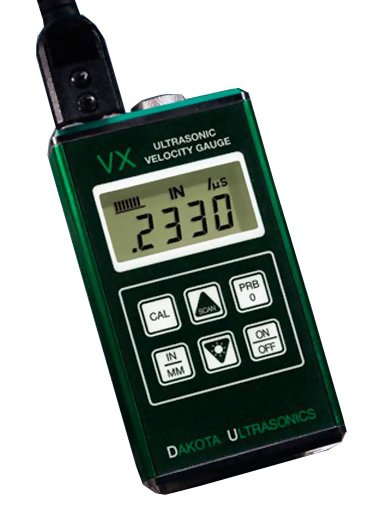 VX Ultrasonic Velocity Gauge, Measuring Range 0.025 to 19.999 inches (0.63 to 500 millimeters)
